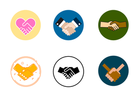 Free Handshake Working Together Vector