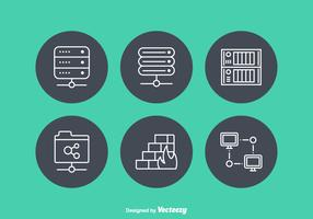 Free Network Servers Vector Icons