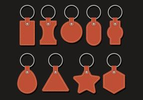Leather Keychains Vectors