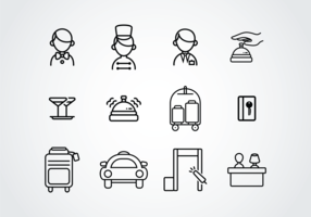 Concierge Pictogram Icons