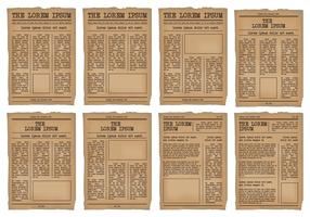 Old Newspaper Template vector set