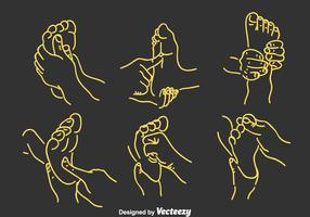 Foot Reflexology Vector