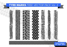 Tire Marks Free Vector Pack Vol. 3