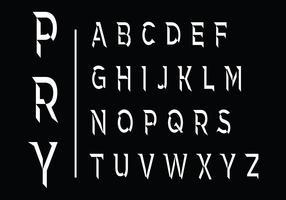 Beveled Vector Font