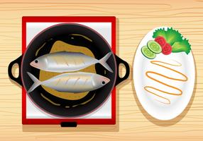 Fish Fry Meal Vector