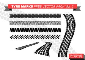 Tire Marks Free Vector Pack Vol. 2