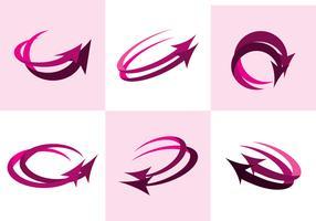 Pink Flechas Vector
