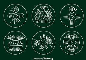Incas Bird Relic Vector Set