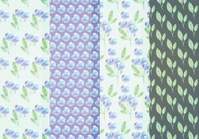 Vector Blue Floral Patterns