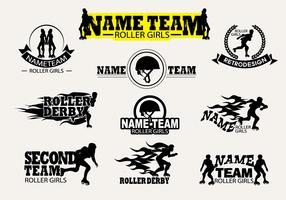 Vector Label Roller Derby