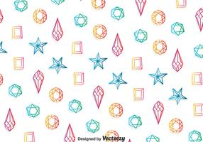 Colorful Gems Pattern Background