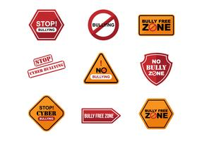 Free Bullying Sign Sticker Vectors