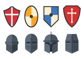 Set Of Templar Vector