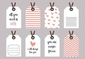 Love and Heart Label Vectors