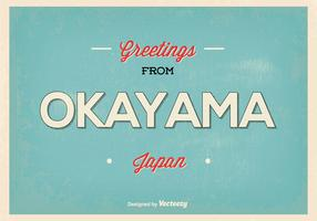 Okayama Japan Greeting Illustration