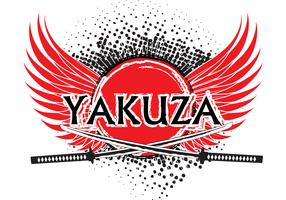 Yakuza logo background vector