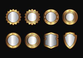 Free Gold Realistic Seal and Badges Vector