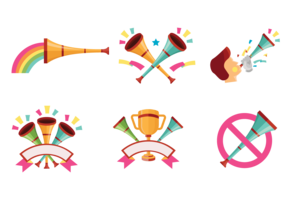 Celebratory Vuvuzela Vectors