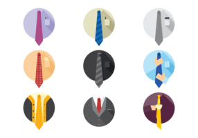 Vector Cravat Icons