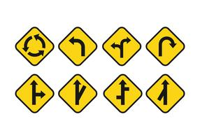 Free Road Signs Vector Set