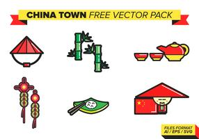China Town Free Vector Pack