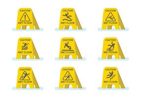 Free Wet Floor Caution Set