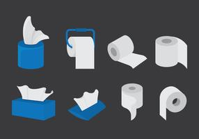 Vector Set Of Wipes Paper