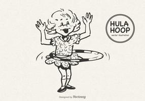 Free Little Girl Doing The Hula Hoop Vector