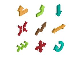 Free Isometric Arrow Vector