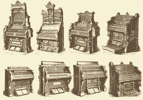 Antique Pipe Organs