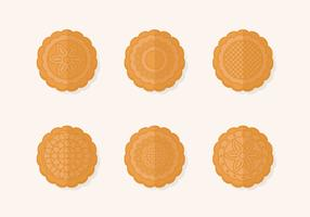 Traditional Mooncake Vector Set