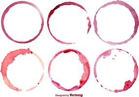 Vector Set Of 6 Wine Stains