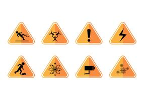 Free Caution Sign Icon Vector