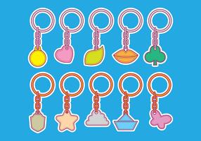 Vector Shape Key Chain Icons