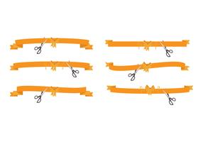 Cutting Ribbon Vector Set