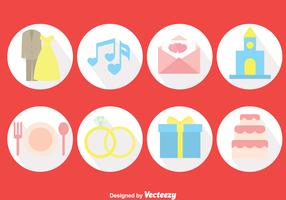 Wedding Planner Circle Icons Vector