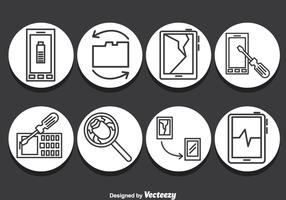 Smartphone Repair Icons Vector