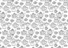 Tea Pots Seamless Pattern