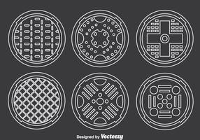 Manhole Covers Collection Vector