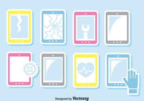Smartphone Repair Vector Set