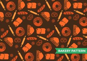 Bagel Bakery Pattern Vector