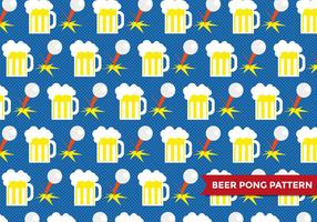 Beer Pong Patter Vector