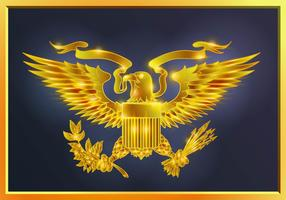 Glowing Gold Presidential Seal