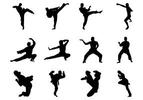 Free Martial Arts Silhouette Vector
