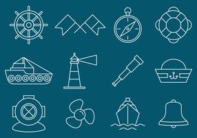 Nautical And Navigation Icons