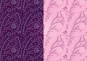 Vector Magenta Floral Patterns