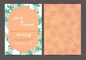 Orange Berry Vector Wedding Invite