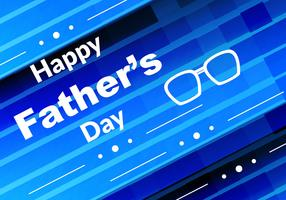 Free Vector Blue Color Father's Day Background