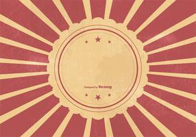 Retro Sunburst Vcetor Background