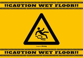 Wet Floor Caution Background
